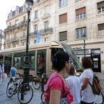 View from Republique street (the very convenient tramway)