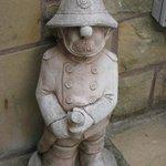 Bob's figure at front door - he was a fireman!