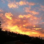 Winter sunset - taken from Room 5