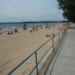 boardwalk at Plattsburgh city beach