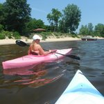 kayaking at Plattsburgh city beach