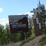 Sign on Alaska Hwy. entering Whitehorse Yukon