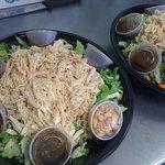 Chinese chicken salad platter