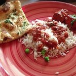 Chicken Tikka Masala with Basmati Rice and Garlic & Cilantro bread