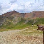 Atop Cinnamon Pass on the Alpine Loop