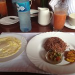 The typical Nicaraguan breakfast. It's very filling!