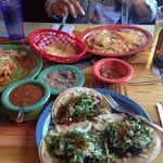 Tamales, Chile Relleno, and Tacos