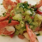shrimp with avacado salad....amazing