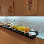 Café da manhã maravilhoso.