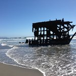 Iredale shipwreck across street at Ft. Stevens