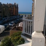 view out of window to seafront
