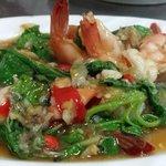 Fried basil with prawns .. .yummy!