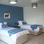 Mhor room on first floor, super king double or twin beds with ensuite shower and bath