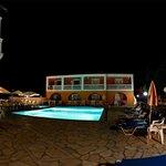 night time pool area