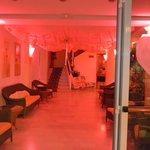 Addobbi della sala piano terra per la notte rosa 2013
