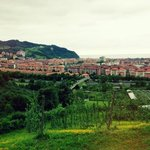 view over zarautz
