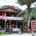 Dive shop beside Maya Chalets