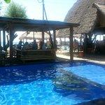 Pondok entrance, bar & pool area..