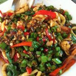 Stir Fried Squid with green pepper