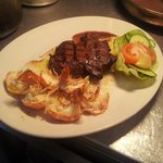 Surf and Turf Sirloin with King Prawns