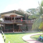 The lodge from the Plaza Grau