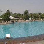 The other big pool behind hotel, its less chaotic