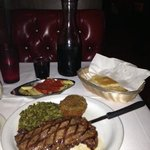 new york strip with free sides