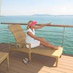 La terrasse : comme sur un bateau !