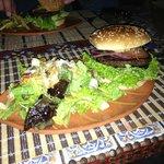 Veggie Burger with Salad
