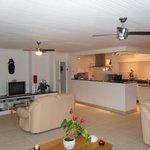 Kitchen and living room - Top floor
