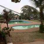 garden and pools