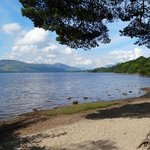 The nearby shores of Loch Lomond