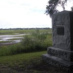 Looking out at the Marsh with marker in foreground
