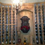 View of the wine cellar