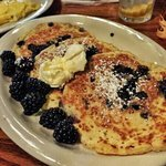 Berries n buttermilk pancakes.  so good!