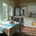 breakfast room with food all day available