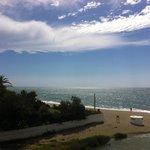 View from balcony towards la cala