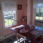 Breakfast room in the Polly Harper Suite