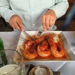 King prawns in a lovely sauce