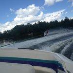 Skiing on Manson Lake