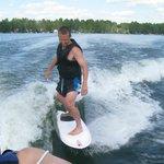 Wake Surfing on Manson Lake