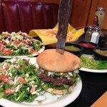 Salad & Jalapeño burger