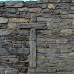 Cross built into foundation