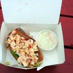 Greasy lobster roll