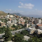 View of Jezzine from balcony