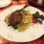 Traditional Hungarian duck dish