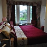 Comfortable beds in cozy room