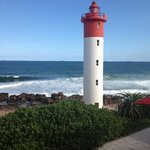 view from oyster hotel at umhlanga rocks