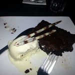 heavenly chocolate brownie and ice cream