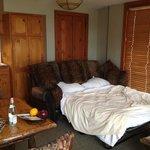 Sofa bed in junior suite